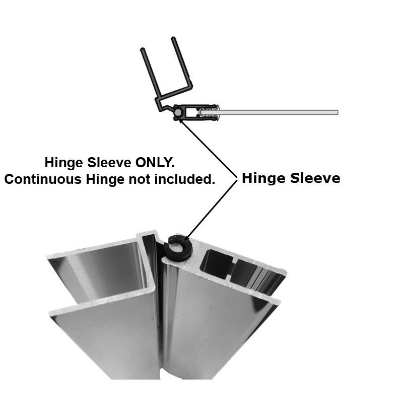 "Primary image for Hinge Sleeve for Shower Doors with Continuous Hinge - 72"" Long"