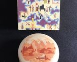 REUGE St. Croix Metal Powder Compact and Music Box - hand painted - Switzerland