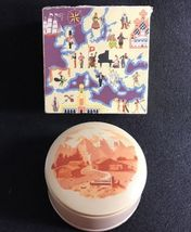 REUGE St. Croix Metal Powder Compact and Music Box - hand painted - Swit... - $49.00