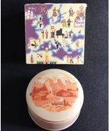 REUGE St. Croix Metal Powder Compact and Music Box - hand painted - Switzerland - £37.72 GBP