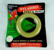 "Nylabone Nylabird Perch Ring Toy Parrot Pacifier Regular Size 3 1/2"" N-2... - £3.79 GBP"
