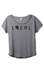 Thread Tank Local Nevada State Women's Slouchy Dolman T-Shirt Tee Heather Grey - $24.99+