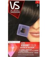 1 VS Vidal Sassoon Pro Series Ultra Vibrant Hair Color 2 Black Permanent... - $16.99