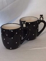 2 Global Design Connections Kate Williams Owl Mugs Black Mug Cup 21042 - $37.04