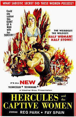 Primary image for Hercules And The Captive Women - 1961 - Movie Poster