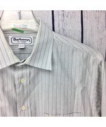 Burberrys of London Mens Dress Shirt Size 16 1/2 33 Long Sleeve Blue FLA... - $4.99