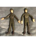 Two 1966 Vintage American Heroes Lakeside Soldier Bendy Action Figure - $19.79
