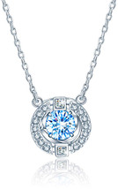 GAEA H Sterling Silver Necklace with Pendant, Crystal from Swarovski Jew... - $88.03