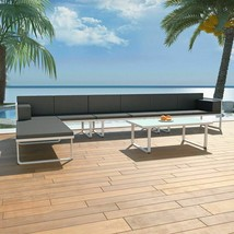 vidaXL 17 Piece Garden Sofa Set Textilene Aluminum Outdoor Patio Seat Ch... - $536.99