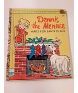 Vintage Little Golden Book 432 Dennis the Menace Waits for Santa Clause ... - $12.86