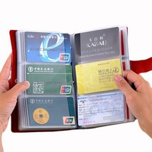 Card Holder Travel Passport Hold Genuine Leather Credit Cards Cover Wall... - $14.99