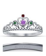 Lovely 14k White Gold Fn. 925 Silver Disney Princess Ariel New Design Cr... - £39.63 GBP