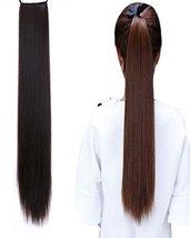 "BarRan 16"" 20"" 24"" 27"" Straight Women Girl's Hairpiece Wrap Clip Hot Pon... - $6.85"