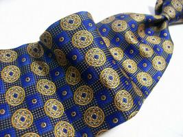 Special ROBERT TALBOTT Blue/Gold Medallions   SILK Necktie  s 8^510b - $21.99