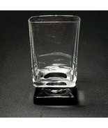 1 (One) VINTAGE DI SARONNO CLEAR & BLACK Square Foot Cocktail Glass -No ... - $9.49