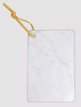 Ankyo 9x6 Inch Glass Marble Looking Cheese Board w Wall Hanging Strap NEW image 1