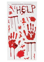 Bloody Wall Vinyl Decals - Includes 20 assorted decals on 1 sheet. - $10.44