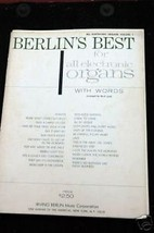 Berlin's Best for all Electronic Organs with words V #1 - $4.00