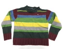 Vintage 90s Tommy Hilfiger Striped Polo Shirt Kids Size 14 Striped Long ... - $29.65