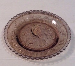 Pairpoint Glass Cup Plate Amethyst Brownish Cardinal Lovely - $5.89