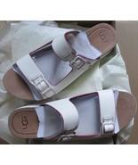 UGG Platform Sandals Hanneli Flatform White Black Sizes 7 9 10 - $84.99