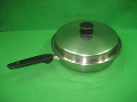 Vintage Regal Stainless Steel 3 PLY Skillet Pan & Lid Made in USA - $18.65