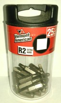 Vermont American VABT25R2 #2 Square Drive Screw Tips 25 Pack - $3.96