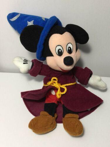 "Disney Fantasia Sorcerer Mickey Plush 9"" Stuffed Animal Bean Bag Toy Wizard image 3"