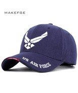 Streetwear letter US Air Force embroidered baseball caps adjustable high... - $11.57