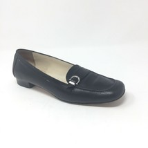 Salvatore Ferragamo Womens Size 9.5 2A AA Black Leather Loafers Buckle Detail - $38.69