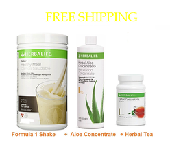 START FORMULA HERBALIFE ,SHAKE(750kg) - ALOE CONCENTRATE(16OZ - HERBAL T... - $67.32