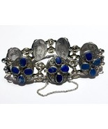 Authentic FRENCH Victorian Lapis Lazuli Boar hallmark Riviere BRACELET - $1,353.75