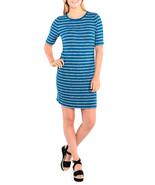 $69 Kensie Striped Sheath Dress Peacock Combo XS - $42.56