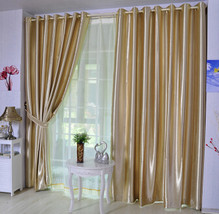 CURTIANS Style Yellow Thickening  modern 80% blackout cloth curtain sun ... - $37.74