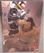 Power Rangers Black Ranger vs Goro Glossy Art Print 11x17 In Hard Plasti... - $24.99