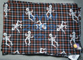 4 Plaid Skeleton Table Placemats Halloween New - $9.99