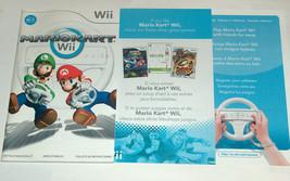2008 Nintendo Wii Mario Kart Wii Carreras Recambio Librillo Manual Insertos - $17.03