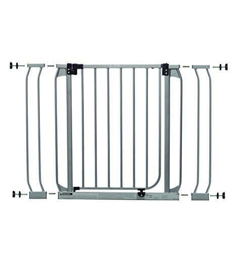 Dreambaby Dawson Auto-Close Security Gate w/Stay Open Feature, Silver (28-39in)