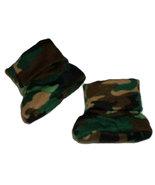 Preemie & Newborn Green Camouflage Booties - $9.00