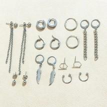 18 pcs 2020 Fashion 18 pcs/set Women Square BTSARMY Stud Earrings for Wo... - $15.47