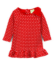 NWT SnoPea Baby Girls Red White Heart Ruffle Shift Dress Valentines Day - $7.14