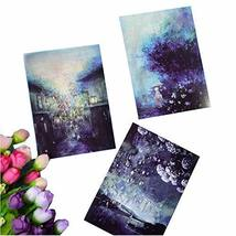 Starry Series Postcard Collection Set Hand Painting Greeting Card Set of 12 - $17.98