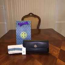 NWT Tory Burch Diana Saffiano Clutch in Black with Tory Gift Bag - $224.40