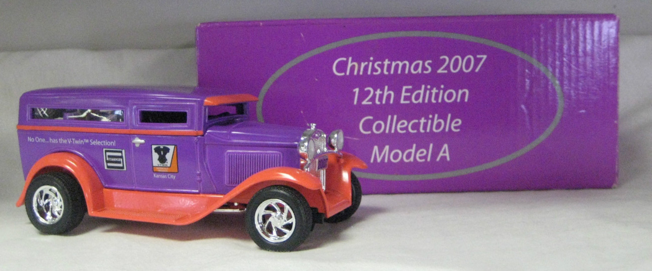 Tedd Cycle Die Cast Collectible Bank Model A V-Twin MFG. New Old Stock