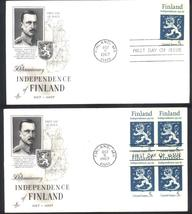 Finland Independence first day covers single & block of 4  - $2.99