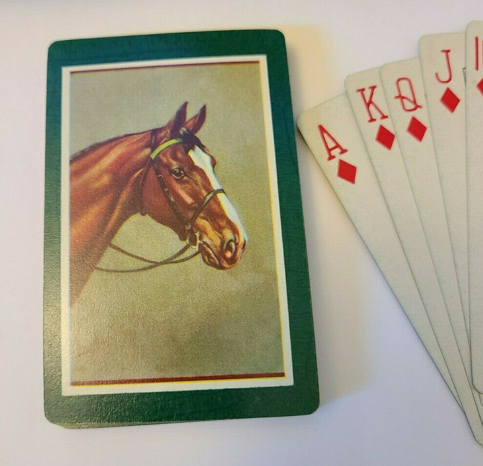 Horse Sevens through Aces Deck of Playing Cards   (#015)