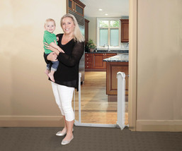 "56""-60"" White Auto-Close Adjustable Child, Baby & Pet Safety Gate - $149.99"