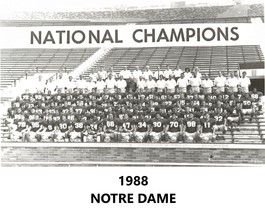 1988 Notre Dame Team 8X10 Photo Fighting Irish Picture Ncaa Football - $3.95