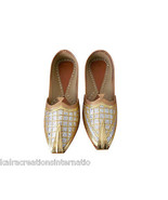 Men Shoes Indian Handmade Mojaries Aladdin Leather Loafers Khussa Jutties US 6  - $39.99