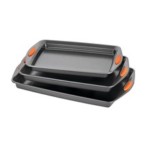 Rachael Ray Oven Safe Non stick Bakeware 3-Piece Baking and Cookie Pan S... - $27.59